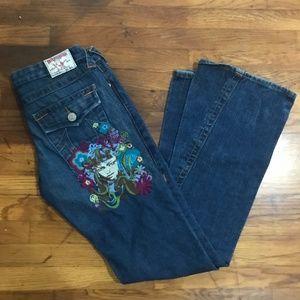 TRUE RELIGION Low Rise Flare Joey Jeans